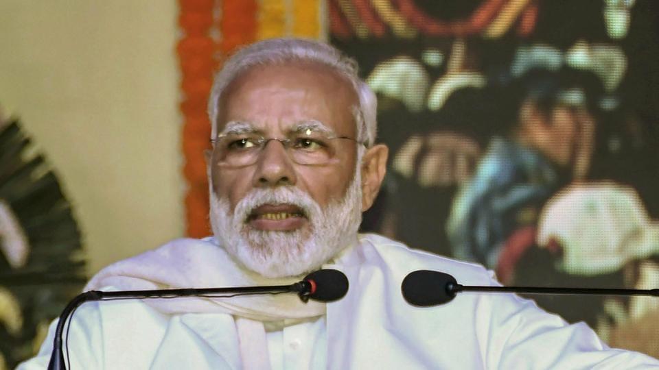 Prime Minister Narendra Modi addresses a gathering during the launch of 'Swachh Shakti 2019 programme', in Kurukshetra on February 12.