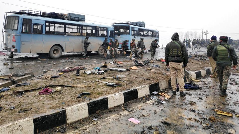 In the attack that took place around 3pm, a Mahindra Scorpio, loaded with nearly 250kg of explosives rammed into a convoy of the security forces, leaving as many as 43 CRPF jawans dead. The Jaish-e-Mohammad has claimed responsibility for the attack.