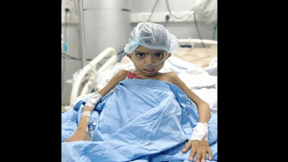 Six-year-old Suraj, the first patient at the Postgraduate Institute of Medical Education and Research .