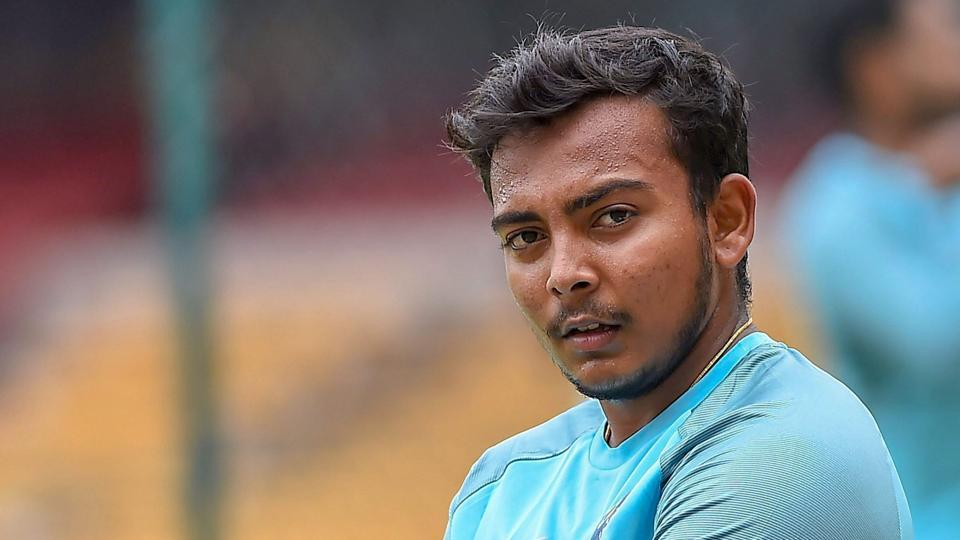 File image of India cricketer Prithvi Shaw in action during a training session.
