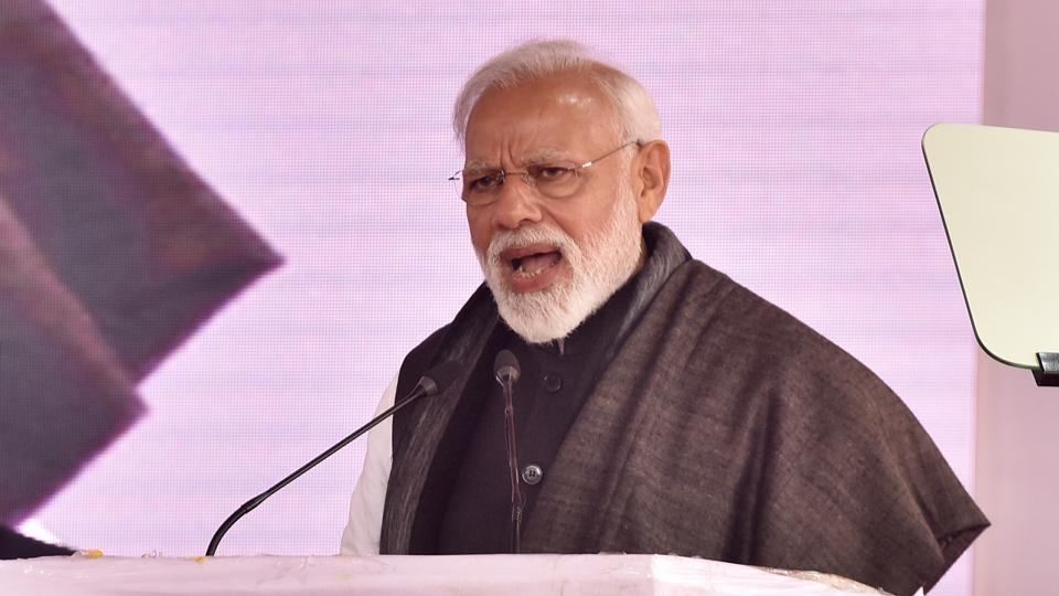 The prime minister was addressing a public gathering today before flagging off Vande Bharat Express between New Delhi and Varansi from New Delhi Railway Station.