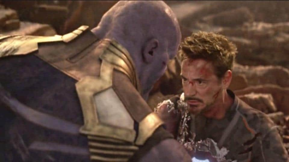 Image result for tony stark infinity war thanos
