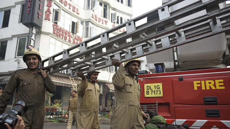 hotel arpit palace fire,karol bagh hotel fire,north delhi municipal corporation