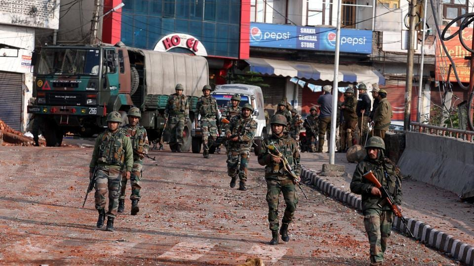 Security forces and army were deployed across the city. Concertina wires were laid on various roads to check the movement of the people. Army helicopters hovered over the city and mobile internet remains suspended .