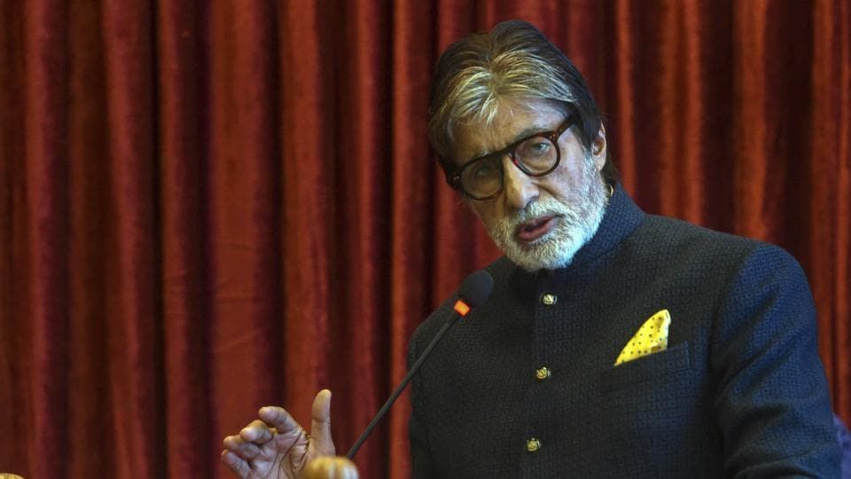 Amitabh Bachchan speaks at an event in Mumbai, Wednesday, Feb. 06, 2019.