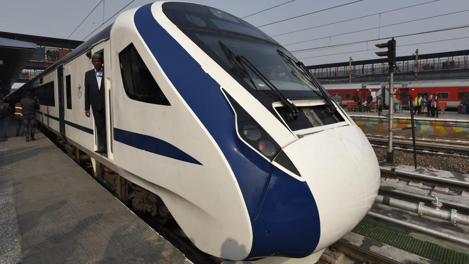 The engine-less Train 18 was on its way back from Varanasi after its first run.