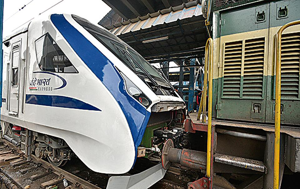 Indian Railways'  Vande Bharat Express, the state-run transporter's first semi-high speed train, broke down early on Saturday on the return journey to New Delhi from Varanasi