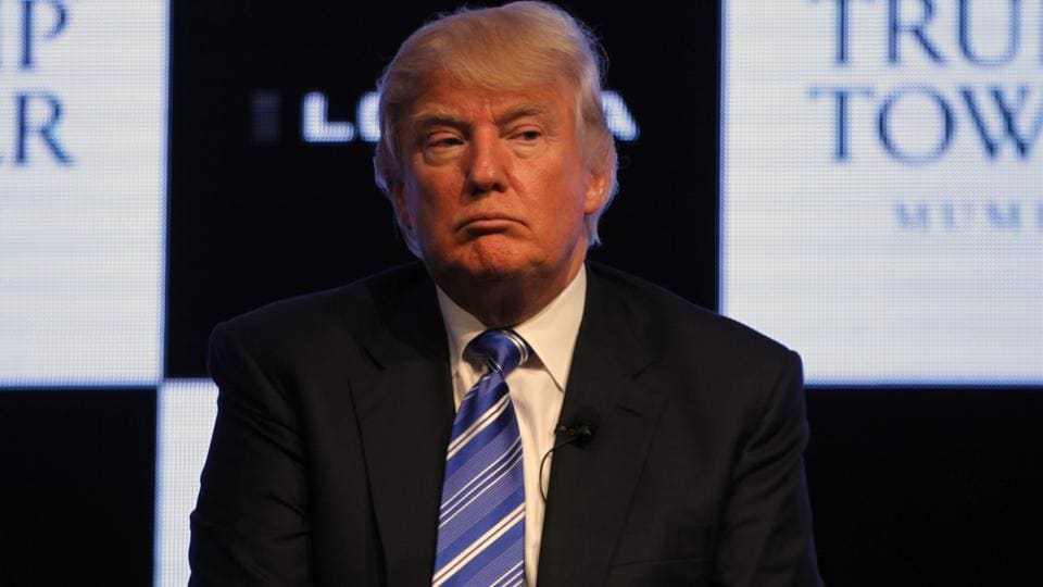 File photo of Donald Trump from August 18, 2014 when he addressed the media during the press conference in Mumbai, India.