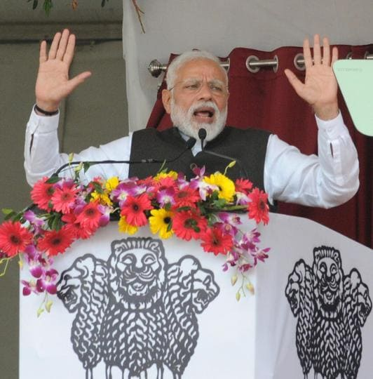 At a public meeting in north Bihar's Barauni, Narendra Modi condoled the families of CRPF personnel Sanjay Kumar Sinha and Ratan Kumar Thakur, who were among the 40 troopers killed after a suicide bomber in a car targeted their convoy on February 14.