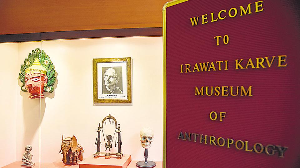 Pune, India - Feb. 13, 2019: Irawati Karve Museum of anthropology in Ambedkar Bhavan of SPPU in Pune, India, on Wednesday, February 13, 2019. (Photo by )