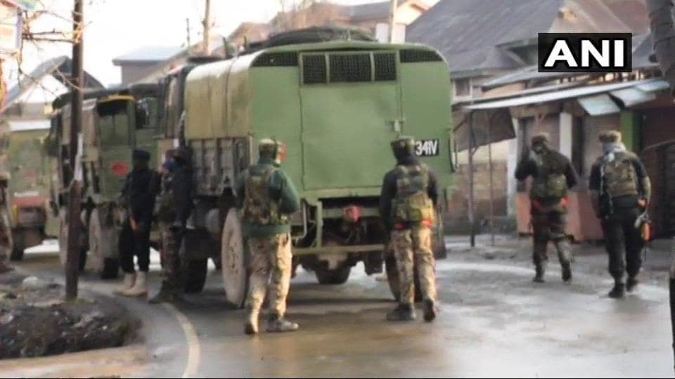 The gun battle comes less than a week after 40 CRPF soldiers were killed in a suicide attack on the Jammu-Srinagar highway in Pulwama.