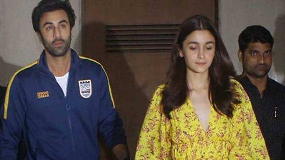 Alia Bhatt and Ranbir Kapoor at the Gully Boy screening last week.