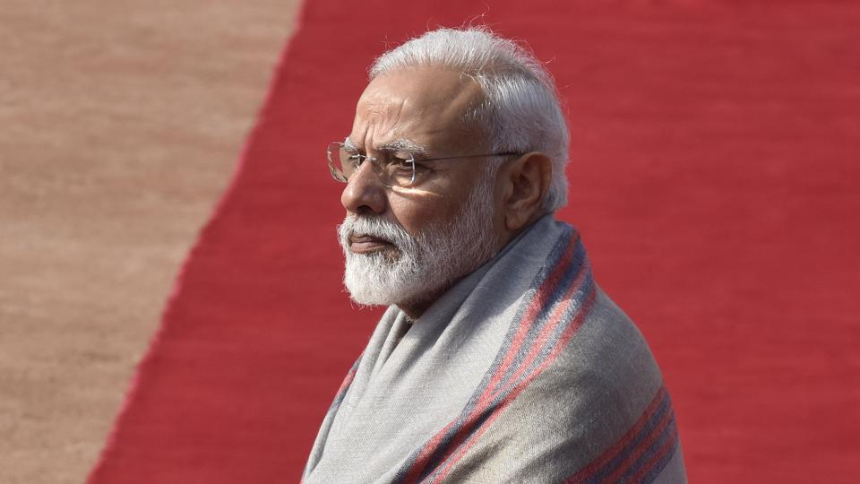 "Prime Minister Narendra Modi said the time for talks were over and the world needed to act on terrorism now, days after the Pulwama attack which killed 40 CRPF personnel. ""Hesitating from taking actions against terrorists is also kind of encouraging terrorism. Being a part of G20 countries, it's also important that we implement 11-point agenda of Hamburg Leaders Statement."" he said. (Sanjeev Verma / HT Photo)"