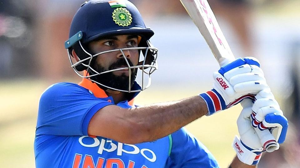 Virat Kohli plays a shot during the second one-day international (ODI) cricket match between New Zealand and India.