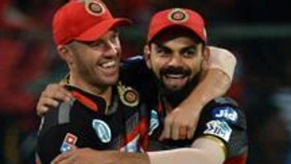 Virat Kohli-ABDe Villiers poster showered with milk by Royal Challengers Bangalore (RCB) fans - Watch