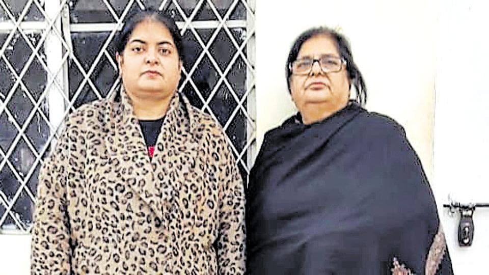 Anuradha Kapoor (left) and Molly Kapoor were nabbed from a hotel in south Delhi's New Friends Colony on Saturday.