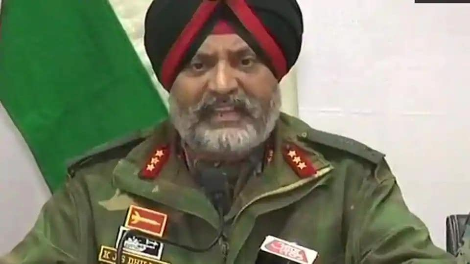 Lt Gen Dhillon's statement comes especially after the identification of the man who had attacked the CRPF convoy.