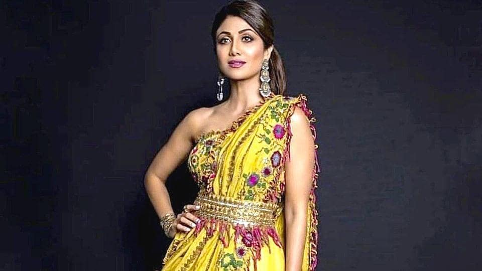 Shilpa Shetty has time and again opted for some of the boldest saree trends we've seen. Ahead, see photos of her most daring sarees. (Instagram)
