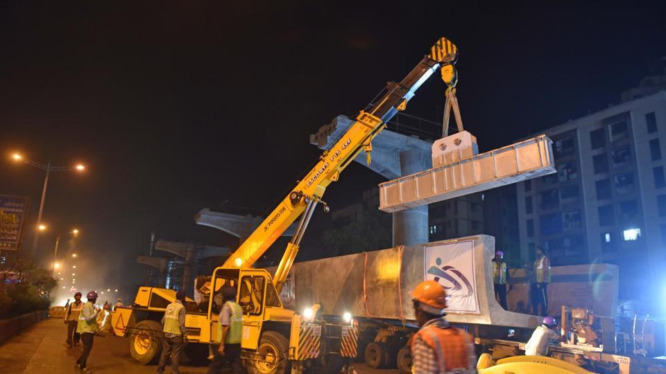 Mero-7 work underway in Mumbai.