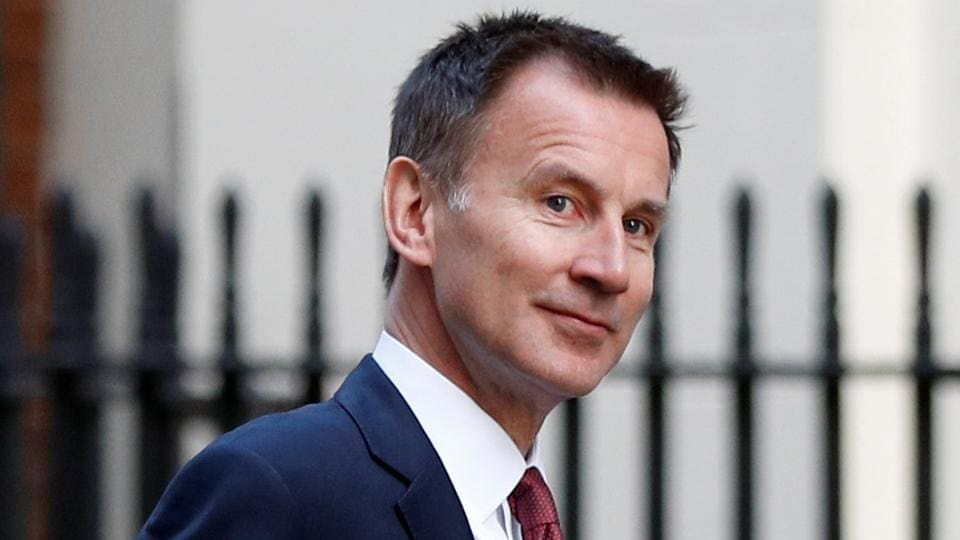 Britain's foreign secretary Jeremy Hunt is seen outside of Downing Street in London, Britain, February 19, 2019. REUTERS/Peter Nicholls