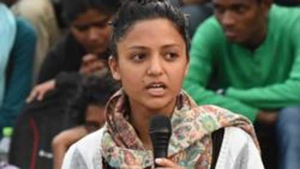 JNUSA former vice president Shehla Rashid