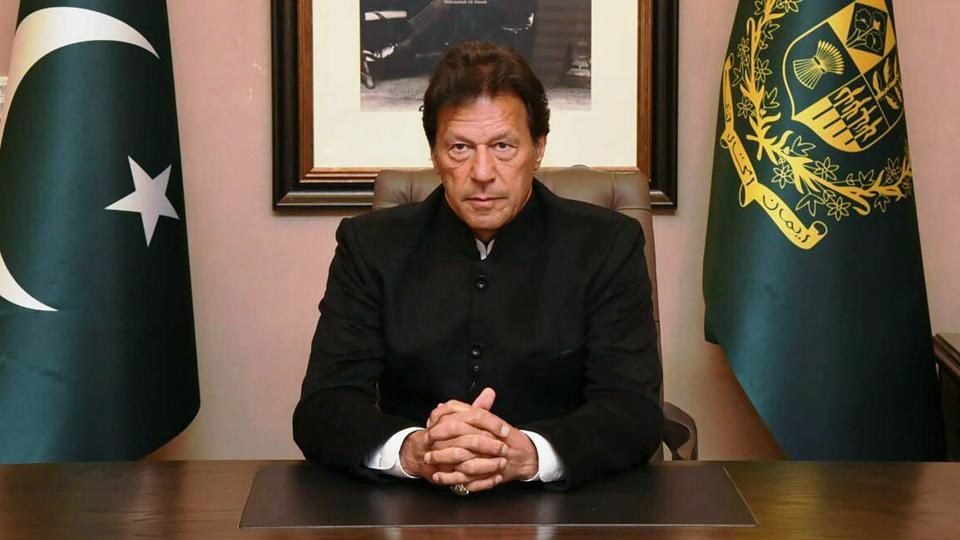 Pakistan's Prime Minister Imran Khan delivers policy statement on Pulwama attack, in Islamabad, Tuesday, Feb 19, 2019.