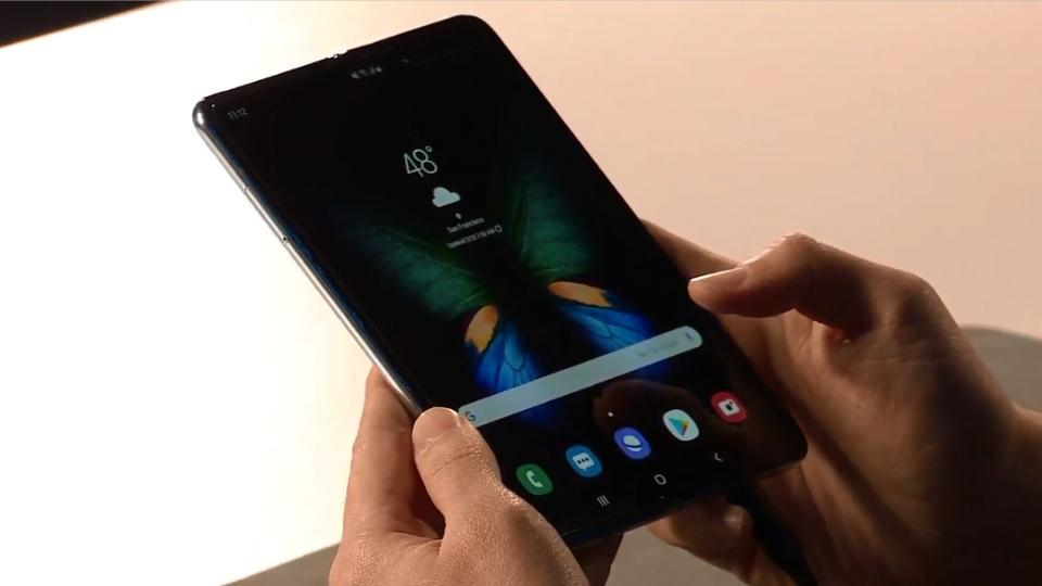 Samsung Galaxy Fold foldable smartphone costs Rs 1,40,000 approximately.