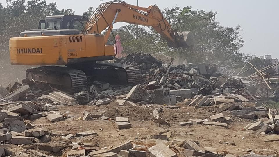 PCMC razed the under-construction temple on Thursday.