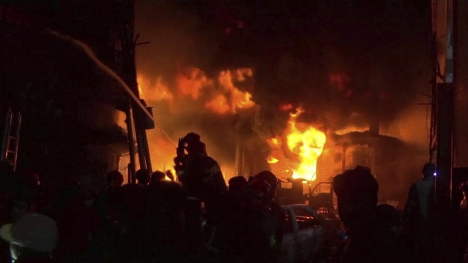 A fast-moving fire swept through adjoining apartment buildings and chemical warehouses in a historic part of the Bangladesh capital Dhaka, killing at least 81 people and injuring several others.