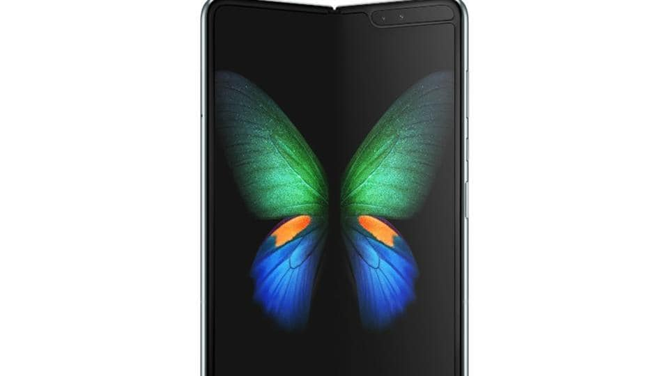 Samsung's new Galaxy Fold smart phone features the world's first 7.3-inch Infinity Flex Display.
