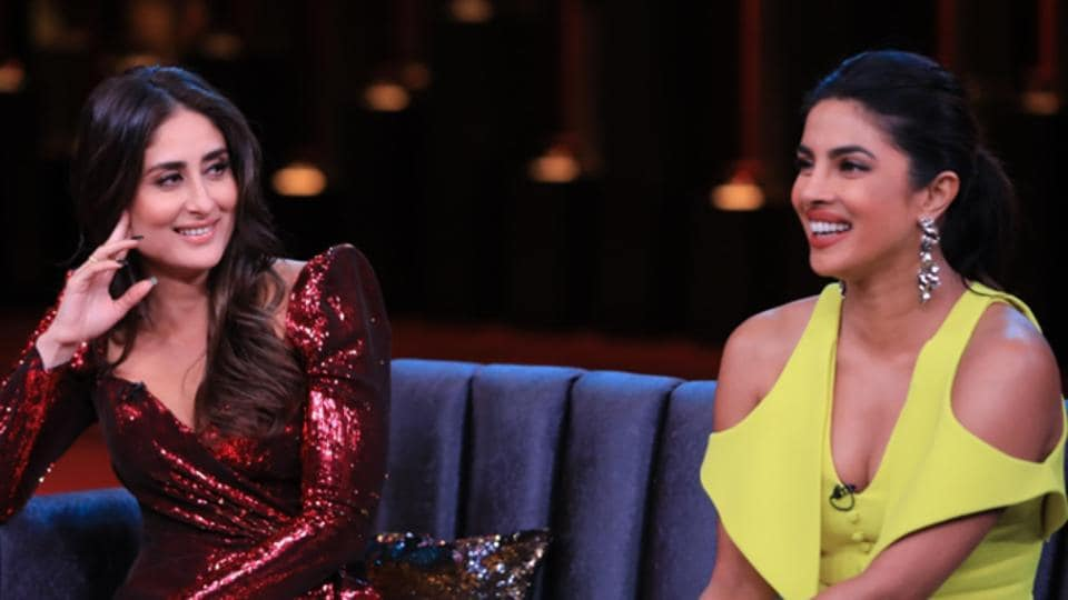 Image result for priyanka and kareena koffee with karan date