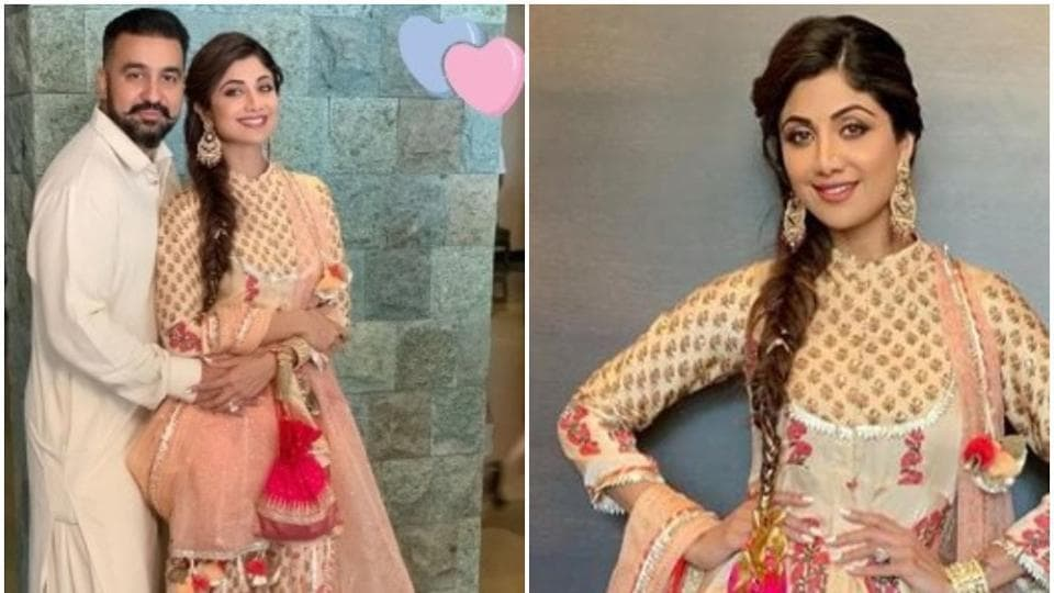 Shilpa Shetty shared these pictures from a family wedding on February 22.