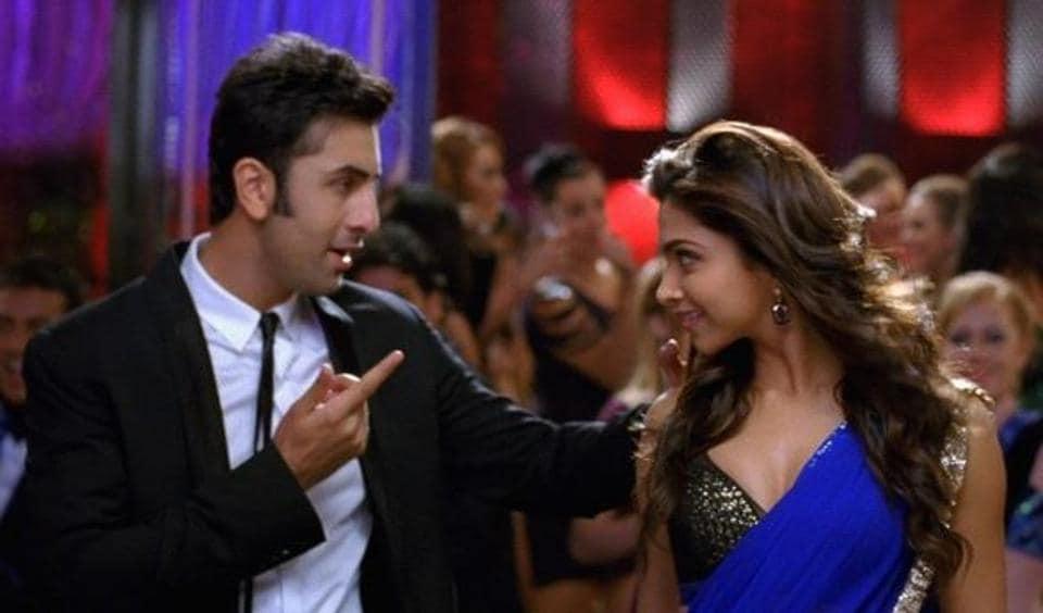 Ranbir Kapoor and Deepika Padukone in a scene from their film,YehJaawaniHai Deewani.