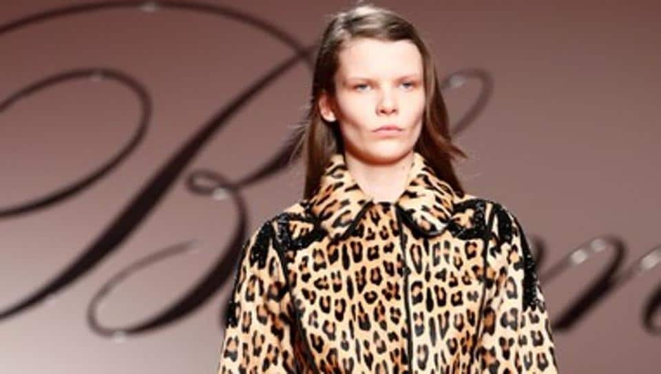 Roses, leopard prints and lots of lace at Blumarine show at Milan Fashion Week