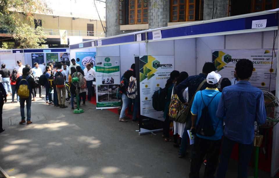A total of 110 startups displayed their products and services at the Pune Startup fest at COEP on Saturday.