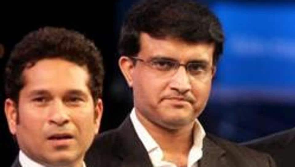 Afile photo of Sachin Tendulkar and Sourav Ganguly.