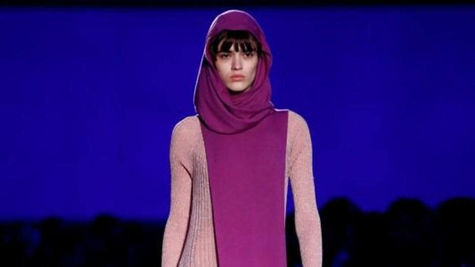 A model walks the ramp for Missoni's show at the Milan Fashion Week