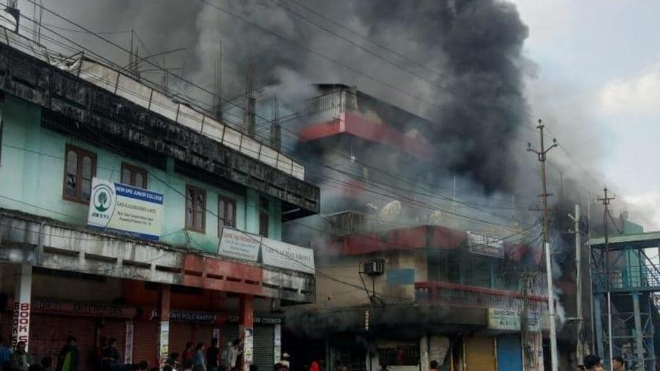 Protesters also damaged two police stations in Itanagar and Naharlagun
