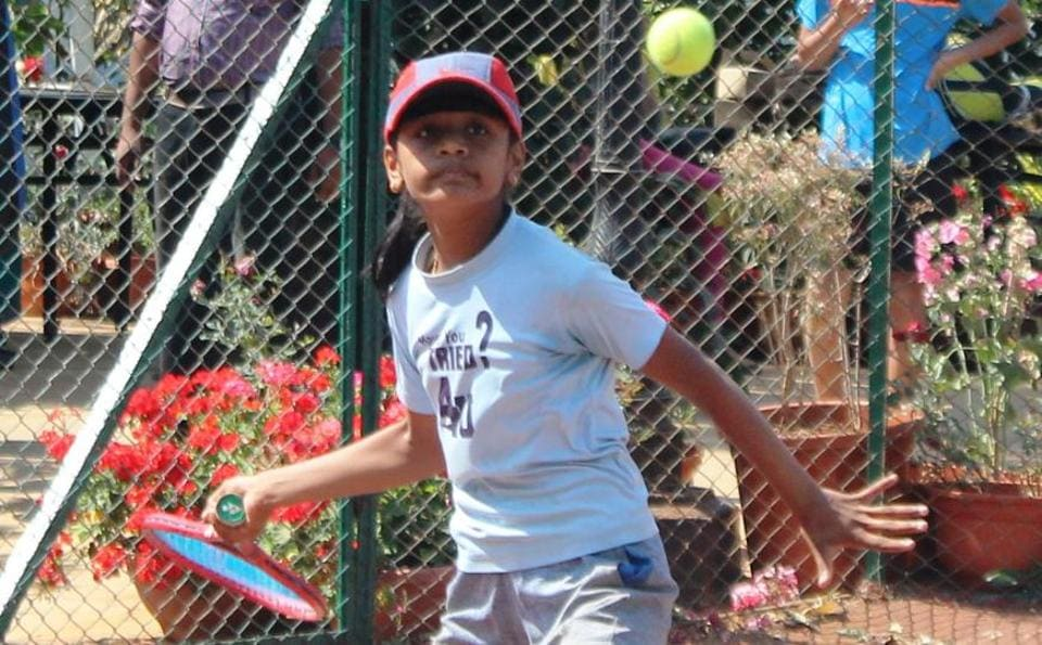 Aishwarya Jadhav (in pic) from Kolhapur wins against city's Gautami Khaire 6-1, 6-3 in the super series u-14 tennis tournament played at Hotel Ravine courts in Panchgani on Saturday.