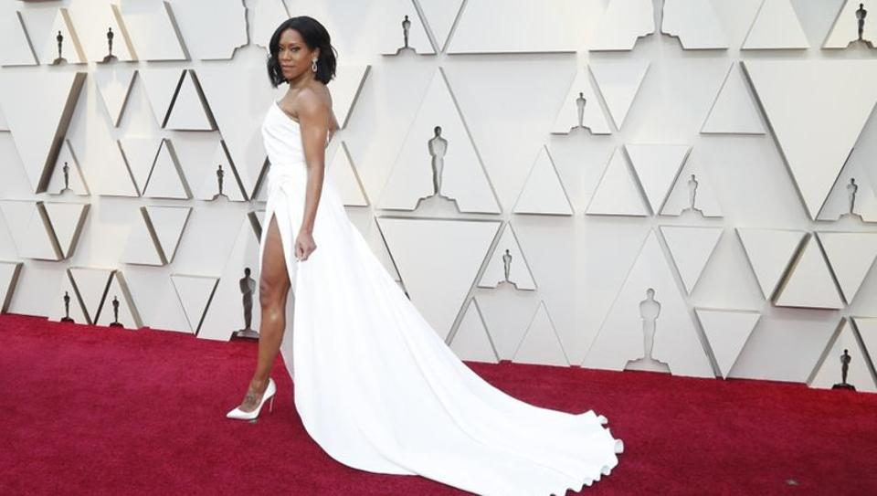 Oscars 2019: Best Supporting Actress nominee Regina King arrives.