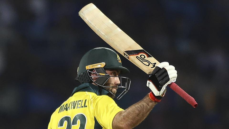 Glenn Maxwell bailed Australia out of trouble with a counter-attacking 50 (AP)