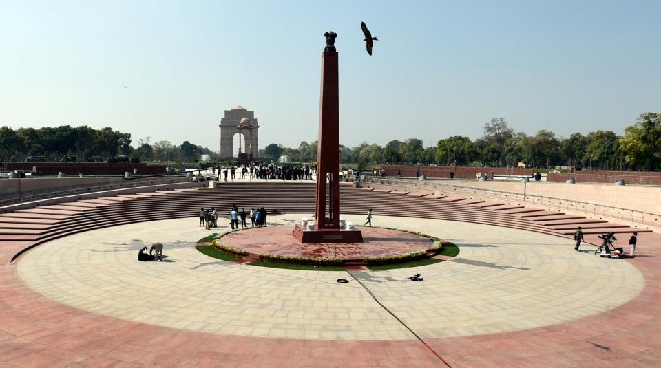 The National War Memorial will be inaugurated by Prime Minister Narendra Modi today. Promised in the National Democratic Alliance's 2014 election manifesto, the country's first war memorial near the India Gate complex will pay homage to over 26,000 soldiers who have sacrificed their lives in conflicts since 1947. (Arvind Yadav / HT Photo)