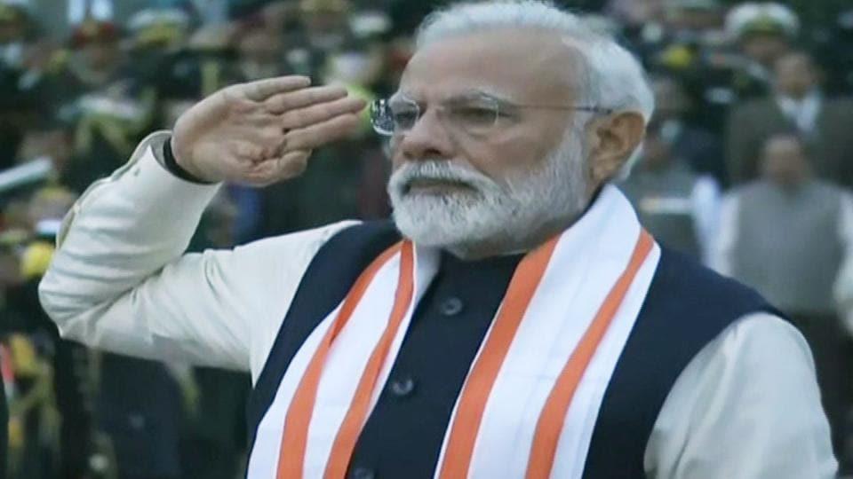 Prime Minister Narendra Modi at the inauguration of National War Memorial in New Delhi on Monday.