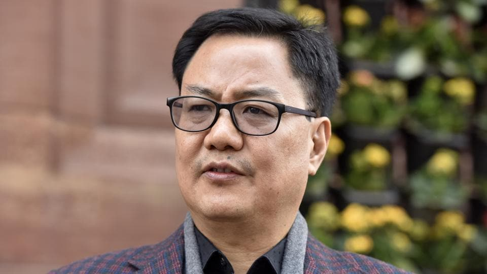 New Delhi, India - December 27, 2018: Minister of State for Home Affairs Kiren Rijiju during the winter session in Parliament, in New Delhi, India, on Thursday, December 27, 2018. (Photo by Sonu Mehta / Hindustan Times)