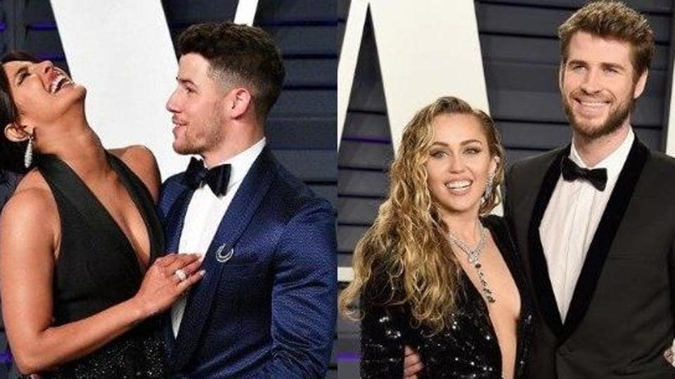 Priyanka Chopra,Nick Jonas,Miley Cyrus