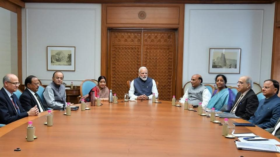 Prime Minister Narendra Modi chairing a  meeting of te Cabinet Committee on Security in New Delhi on Tuesday
