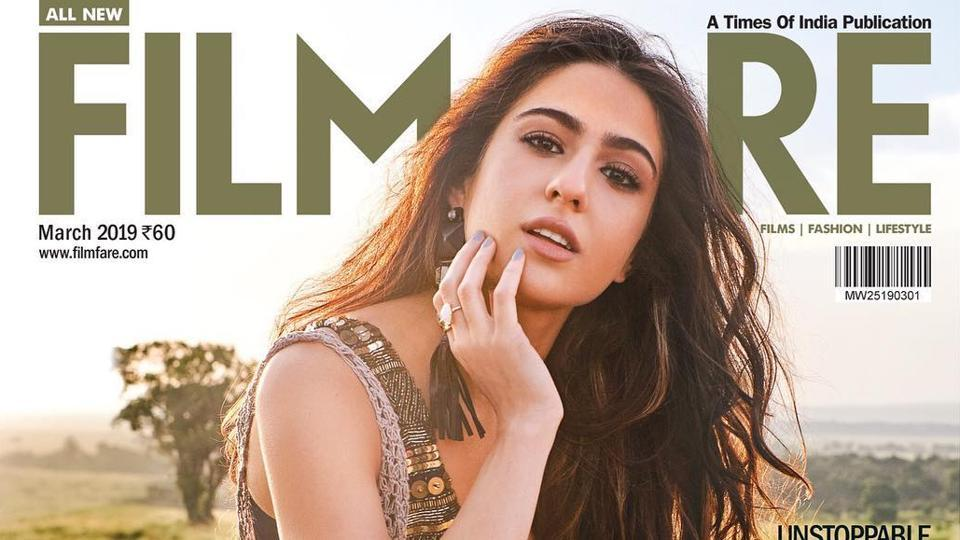 Sara Ali Khan made her magazine cover debut with Filmfare.