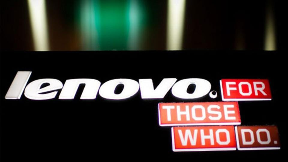 A logo of Chinese computer giant Lenovo is displayed in Hong Kong. (AFP photo)