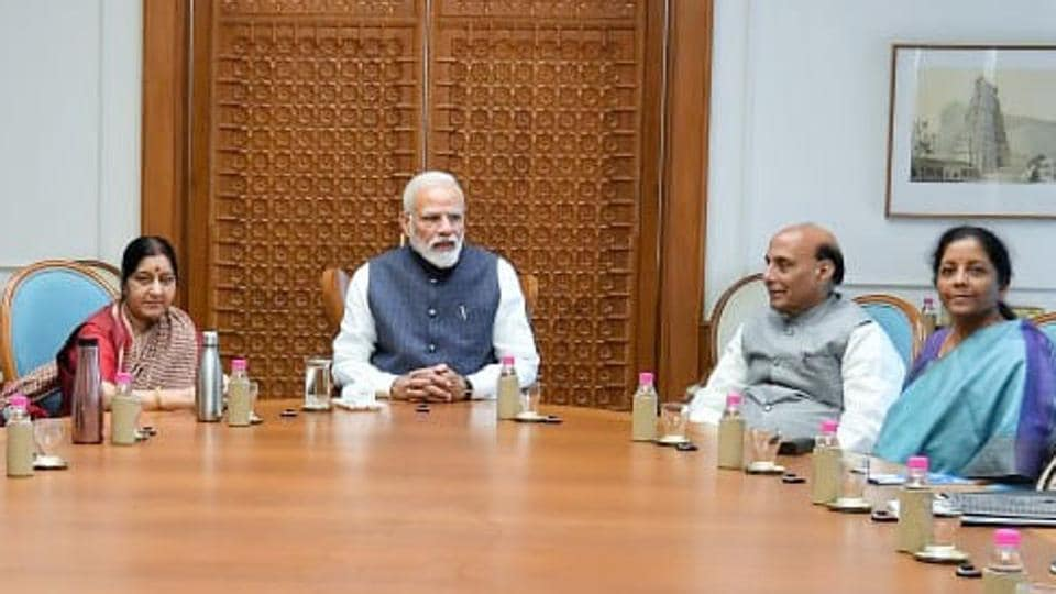 Prime Minister Narendra Modi chairs a meeting of Cabinet Committee on Security in New Delhi on Monday, to take stock of the situation after the air strikes on Pakistan Occupied Kashmir (PoK).