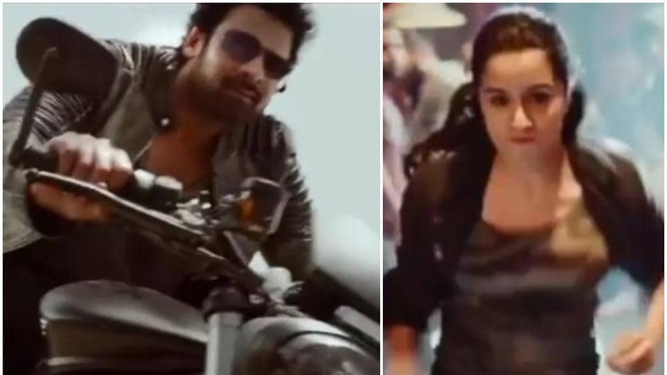 Prabhas and Shraddha Kapoor in a teaser of Saaho.